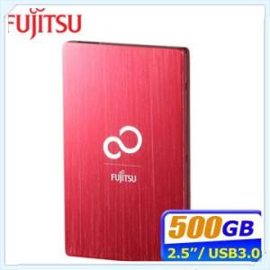Fujitsu Ultra Slim 500GB USB3.0 2.5吋髮絲行動硬碟-璀璨紅