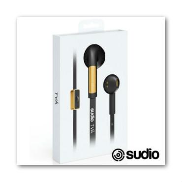 【Sudio】瑞典設計 優雅質感耳道式耳機-附真皮保護套(TVA / 黑)