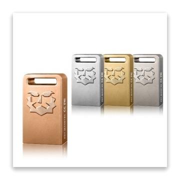 達墨TOPMORE ZH Plus USB3.0 32GB 鋅合金精工隨身碟(澄金)