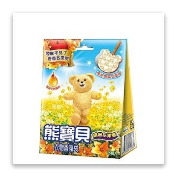 熊寶貝 衣物香氛袋繽紛花果香21g