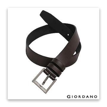 GIORDANO 男裝經典款超值皮帶-84 深咖啡 (L)