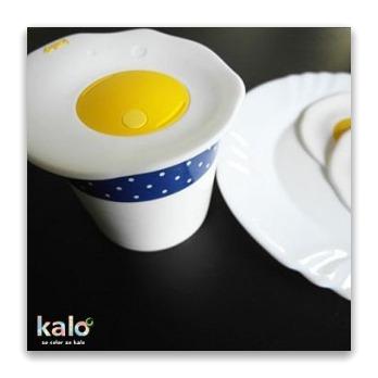 Kalo卡樂創意荷包蛋矽膠杯蓋